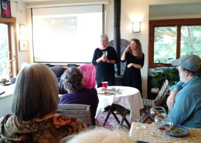 Sharon at Manka fund raiser