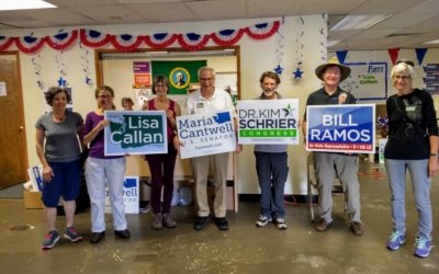 Indivisible Vashon Canvasses Issaquah!